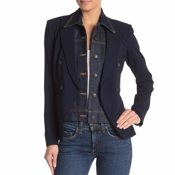 Veronica Beard Jackets & Blazers - NWT Veronica Beard Slate Jean Dickey in Dark Blue